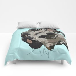 Great Dane In Your Face Comforters