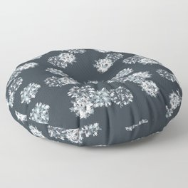 Abstract Blue Viruses Floor Pillow