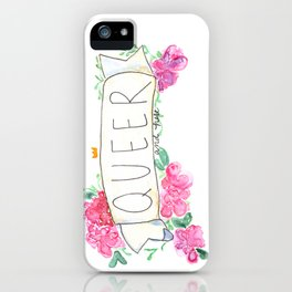 queer and here iPhone Case