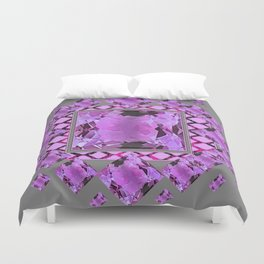 PURPLE AMETHYST FEBRUARY GEM BIRTHSTONES MODERN ART DESIGN Duvet Cover