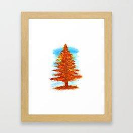 Fall Tree Framed Art Print