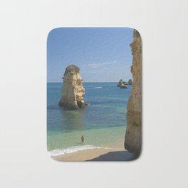 Rock on the beach, the Algarve coast, Portugal Bath Mat