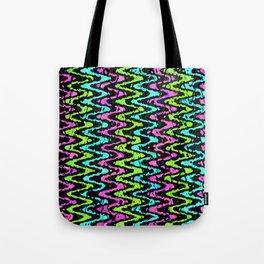 Wavy Neon Tote Bag