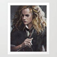 hermione Art Prints featuring Hermione  by Ilya Brovkin