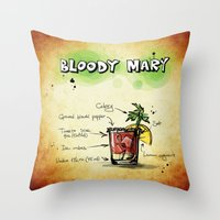 cocktail Throw Pillows featuring Cocktail by WonderfulDreamPicture
