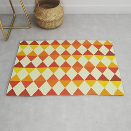 Retro Triangles Pattern Rug