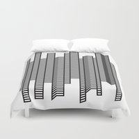 skyline Duvet Covers featuring Skyline by The New Minimalist