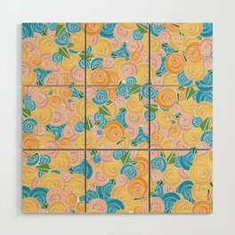 Pastel Floral Wood Wall Art