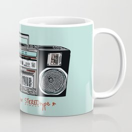 Stereo type Nonconforming   Casette Player   Radio   Hand-drawn Stereo Coffee Mug