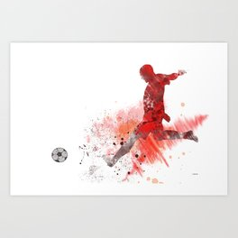Soccer Player 1 Art Print