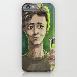 great female scientist testing radiation iPhone Case