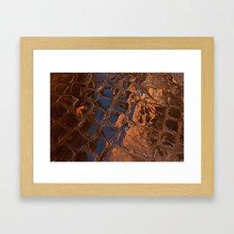 Coppery Cobble Stones Framed Art Print