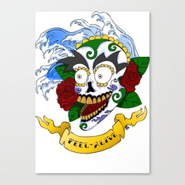 Feel Alive Skull Canvas Print