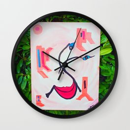 Be Positiv and Keep Smiling Wall Clock