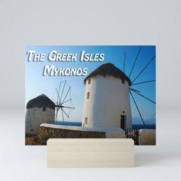 Windmills on Mykonos Island Greece Mini Art Print