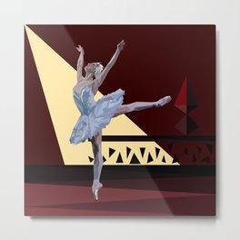 'Swan Lake Ballerina' Metal Print