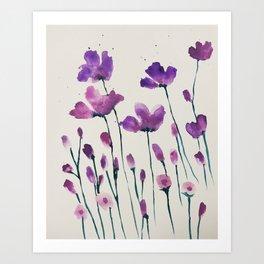 Floaty florals Art Print