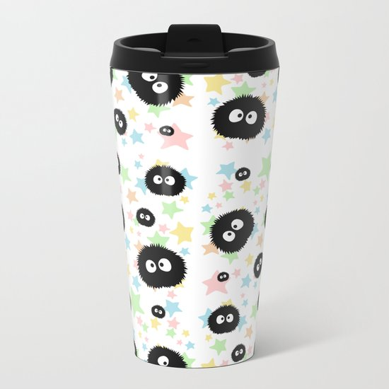 Soot Sprite with stars Metal Travel Mug