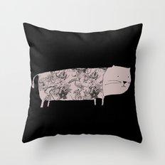 Flower pet Throw Pillow