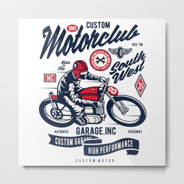 Garage inc - Motor club South West Metal Print
