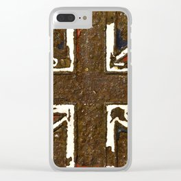 The rusted Union Jack Clear iPhone Case