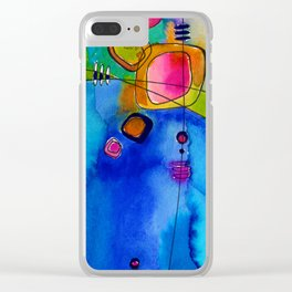 Magical Thinking No. 2A by Kathy Morton Stanion Clear iPhone Case