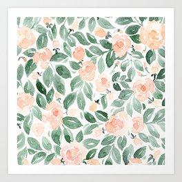"Loose watercolor florals, ""Miriam"" Art Print"