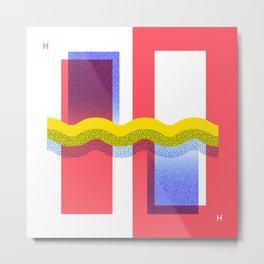 36 Days of Type · H Metal Print