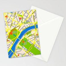 Paris map design Stationery Cards