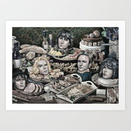 Buffet Still Life Art Print
