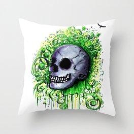 Sherlock - Graffiti Skull  Throw Pillow