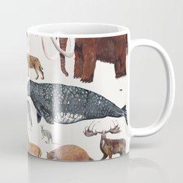 Animal chart of the Holocene extinction Coffee Mug