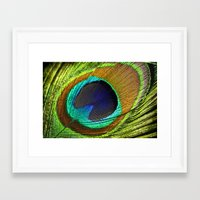 feathers Framed Art Prints featuring feathers by mark ashkenazi