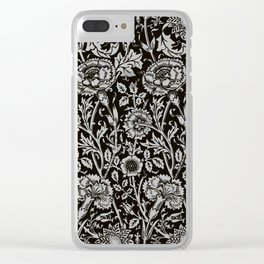 "William Morris Floral Pattern | ""Pink and Rose"" in Black and White 