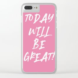motivational quote - summer quote Clear iPhone Case