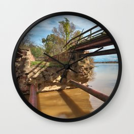 Dilapidated Lock Wall Clock