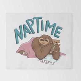 Nap Time Sloth Throw Blanket