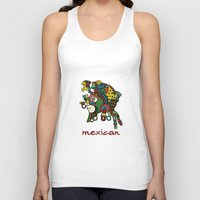 mexican Tank Tops featuring mexican warrior by laika in cosmos
