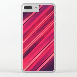 Moder Red / Black Stripe  Abstract Stream Lines Textuer Design Clear iPhone Case