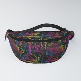 Rainbow Sprinkle Construction Site Fanny Pack