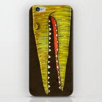 crocodile iPhone & iPod Skins featuring Crocodile by Lime