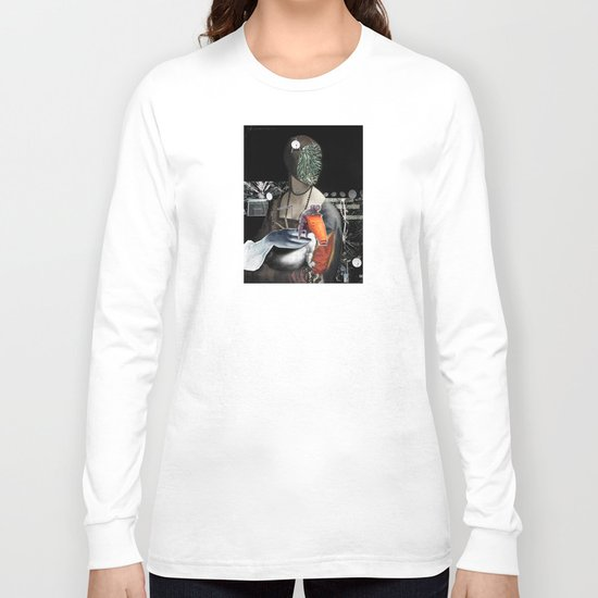 Leonardo´s Woman with Hermelin(?) Collage Long Sleeve T-shirt
