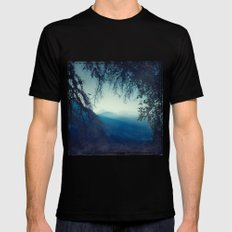 Blue Morning Mens Fitted Tee Black LARGE