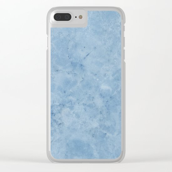 Lento blue marble Clear iPhone Case