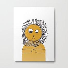 Yellow lion Metal Print