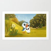 Puffin Rock - Oona and Baba Art Print