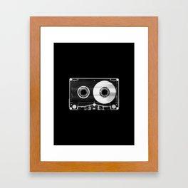 Black and White Retro 80's Cassette Vintage Eighties Technology Art Print Wall Decor from 1980's Framed Art Print