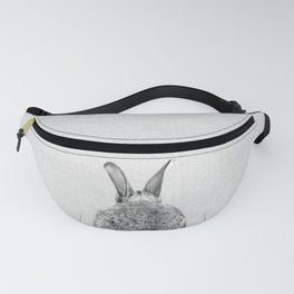 Rabbit Tail - Black & White Fanny Pack