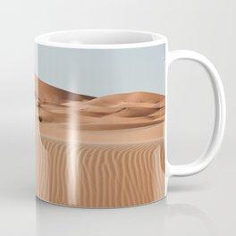 Erg Chebbi Dunes Palmtree, Maroccan Desert Landscape. Merzouga, Marocco.  Coffee Mug