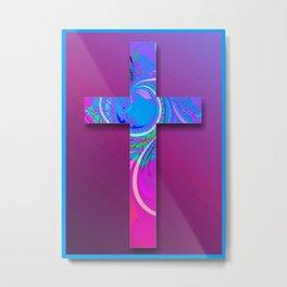 Decorative Cross 2 Metal Print